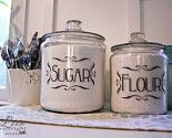 decals on inexpensive apothecary jars.