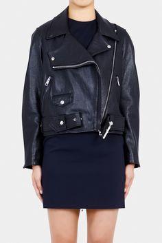 acne merci leather jacket