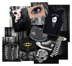 """My Dark Angel"" by almaluchi on Polyvore featuring Cosgirl, Converse, Glamorous, Valfré, women's clothing, women's fashion, women, female, woman and misses"