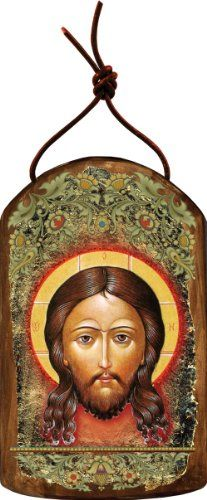 G Debrekht Icon of The Holy Face Icon Wooden Ornament -- Want additional info? Click on the image.