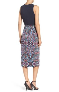 Main Image - Maggy London Scuba Midi Dress