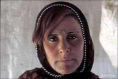 Syrian Bedouin, facial tattoos, younger generation