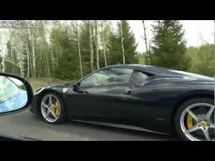 Ferrari 458 Italia vs Jaguar XKR-S (introducing Swedish 458 girl): new GTBoard.com event