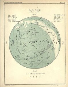 Plate 41. The March sky at midnight. A popular guide to the heavens. 1905.