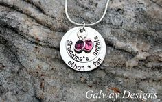 Grandma's Angels - Hand Stamped Necklace. $28.00, via Etsy.
