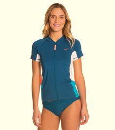 NIKE Multi Colorblock Cover Up Top Rashguard Sun Protection UPF 40+ sz XS, M NWT #Nike #RashGuard