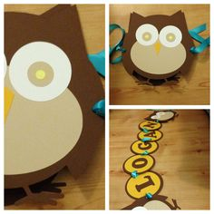 Paper Owl Baby Name Banner
