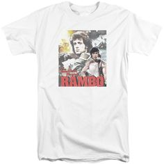 Rambo:First Blood/They Drew Collage Short Sleeve Adult T-Shirt Tall in