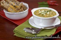 Sopa de Grão-de-bico Termogênica » Receitas Saudáveis, Sopas » Guloso e Saudável