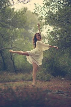 Love the dance pose in the woods. So cool...