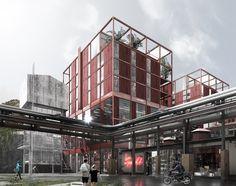 Arkitema Architects, Competition entry, Gasverket, Norra Djurgaardstaden - Stockholm