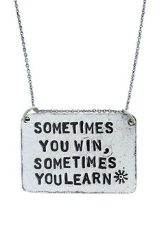 """Alisa Michelle """"Sometimes You Learn"""" Necklace"""