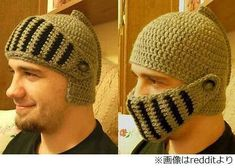痛いニュース(ノ∀`) - 【画像】 騎士のヘルメット型編み帽子、世界から注文殺到で4か月半待ちに