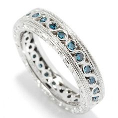 Ultimate Silver™ 0.35ctw Diamond Scrollwork Eternity Band Ring