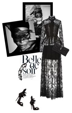 """Black lace story"" by theitalianglam ❤ liked on Polyvore featuring Givenchy, Elie Saab, Philipp Plein, Giuseppe Zanotti, Dolce&Gabbana, women's clothing, women's fashion, women, female and woman"