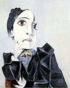 Dora Maar with Green Fingernails, oil on canvas, by Pablo Picasso, 1936.