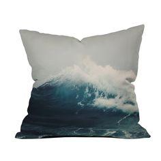 Crashing Waves Pillow #pillow #decor