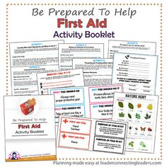 First Aid Activity booklet for and graders that will teach you everything you need to save someones life or treat minor injuries. Use some of these ideas with your troop of girls to teach them how to save a life. First Aid For Kids, First Aid Tips, Basic First Aid, Brownie Girl Scouts, Girl Scout Troop, Cub Scouts, Scout Leader, Wolf Scouts, How To Do Cpr