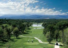 Golf course at PGA Catalunya Resort near Barcelona, Spain