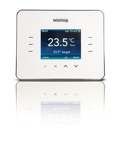 Warm Up Thermostat Cloud White Warm Tiles, Topps Tiles, Energy Bill, Underfloor Heating, Heating Systems, Place, Save Yourself, Clouds, Bathrooms