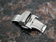 16MM-Deployment-Buckle-Double-Clasp-BRUSHED-Stainless-Steel