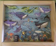 Fish are Freinds by Carta Bella.  Design by Tandara Smith for Scrappin' in the City. Fish, Frame, Design, Painting, Home Decor, Art, Homemade Home Decor, Craft Art, Pisces