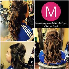 Homecoming hairstyle by Natalie Biggs 636.527.2566