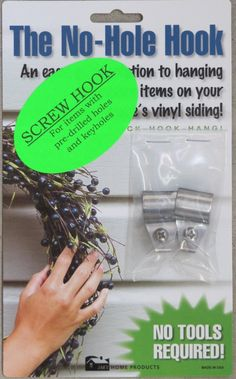 For An Easy Way To Hang Stuff On Vinyl Siding Make Some
