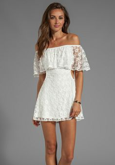 Lace dress, great shoulder-line