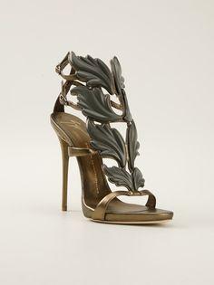 7f0e8c5fc70b Giuseppe Zanotti - leaf embellished sandal Shoes Heels