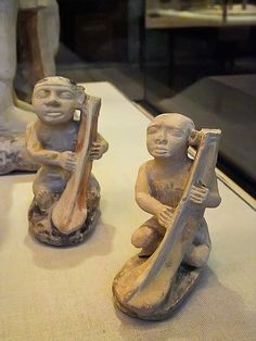 Limestone Statues from Old Kingdom tomb of courtier Nykauinpu depicting musicians Dynasty 5 2477 BCE Giza Egypt