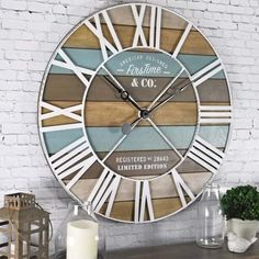 FirsTime & Co. 24 in. Maritime Distressed Teal Planks Wall Clock 00257 - The Home Depot : FirsTime & Co. Maritime Distressed Teal Planks Wall - The Home Depot Beach Cottage Style, Beach Cottage Decor, Coastal Style, Coastal Decor, Coastal Living, Coastal Furniture, Living Room Decor Beach, Beach House Diy Decor, Living Rooms