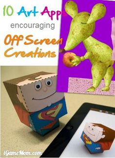 Apps are not just for on-screen activities! These art apps are great for encouraging kids' off-screen creativities. #kidsApps