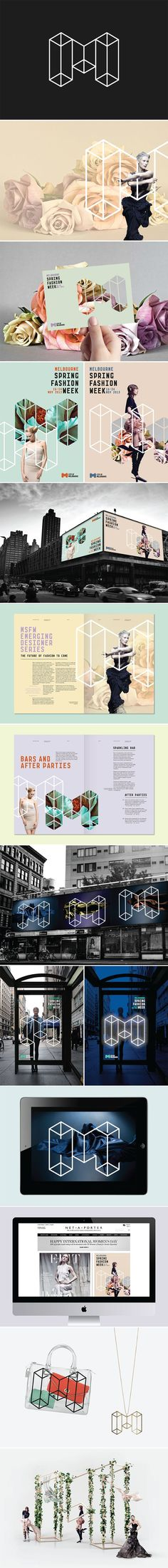 Melbourne Spring Fashion Week branding by Sarita Walsh
