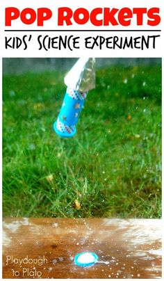 Pop Rockets. Awesome science experiment for kids! Build rockets that really fly. Such a simple science activity.