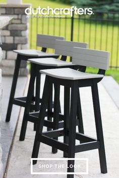 Give your outdoor space a simple but impactful update when you add the Amish Outdoor Poly Saddle Bar Stool to your outdoor bar. These Berlin Gardens Poly Bar Stools will help you make the most of your backyard or patio. Berlin Gardens is the premier outdoor poly furniture vendor due to their high level of attention to detail in their products, ensuring you get exactly what you ordered at a reasonable price. Garden Dining Set, Garden Bar, Patio Dining, Wet Weather, Saddle Bar Stools, Outdoor Island, Grill Area, Island Bar