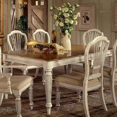 Wilshire Dining Table in Antiqued White - <3 <3 <3!