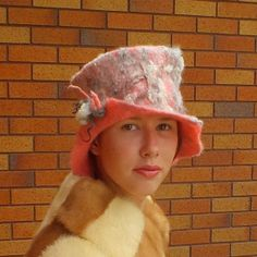 My felted hat featured in collection Strange day #2 ♡ by Elena Reggiani on Etsy
