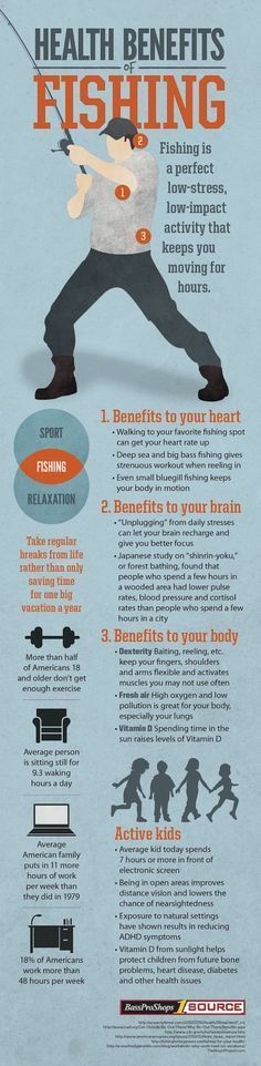 Health Benefits of Fishing | Who knew this survival sport could benefit more than your belly? | Fishing Tips and Tricks and DIY Fishing Gear at Survival Life Blog : http://survivallife.com