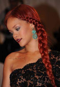 Bangs into hair length braid!!! Cute