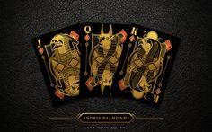 Limited edition custom luxury playing card decks designed by Steve Minty