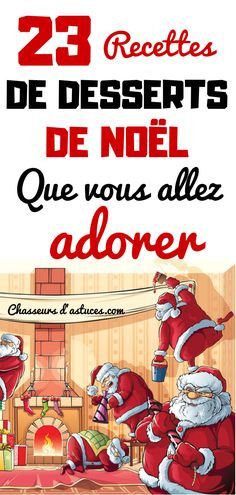23 RECETTES DE DESSERTS DE NOËL QUE VOUS ALLEZ ADORER French Christmas, Merry Christmas To You, All Things Christmas, Christmas Time, Christmas Crafts, Chocolate Bowls, Dessert For Dinner, Flan, Biscuits