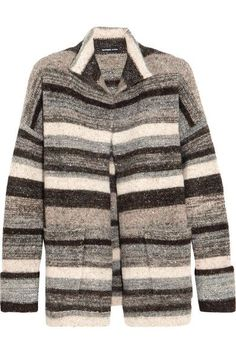 James Perse - Striped Stretch-knit Cardigan - Gray - 3