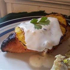 Coconut-Lime Chicken with Grilled Pineapple Allrecipes.com