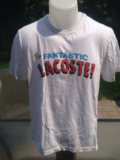 """New to MajorDivision on Etsy: Vintage """"The Fantastic Lacoste"""" Lacoste Live T-Shirt (15.00 CAD)"""