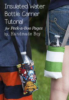Insulated Water Bottle Carrier - sewing straps photos