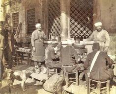 Sokak Lokantası (Street restaurant).  Istanbul, late 19th century. (Photographer's studio: Abdullah Fréres).