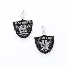 Oakland Raiders Crystal Logo Earrings