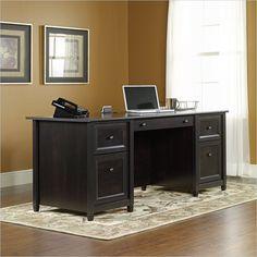 Edge Water Executive Desk in Estate Black - 409042