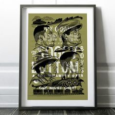 Soggy Bottom Boys Screen Printed Poster